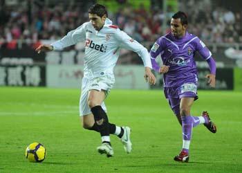 Sevilla F.C 1 – Real Valladolid C.F 1  Decepción en Nervión.