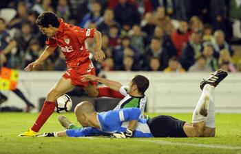 R. Racing Club 1 – Sevilla F.C 5. Seguimos en la pomada.