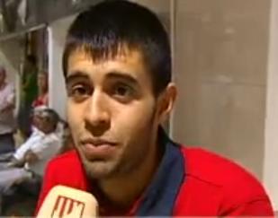 Lesión del juvenil José rodríguez.
