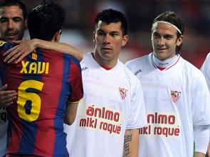 Sevilla F.C 1 – F.C Barcelona 1. Noche de homenajes.